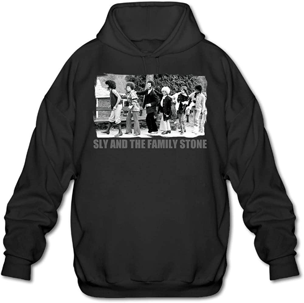 SAMMOI Sly And The Family Stone 1 Men's Sport Hoodie Black