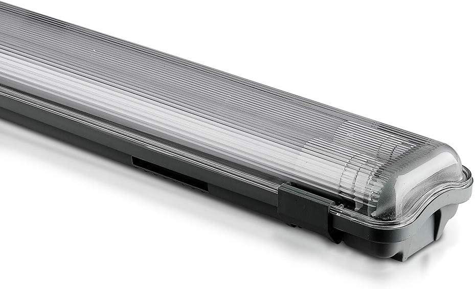 Lámpara LED V-TAC, plástico + ABS., 6400 K, 2 x 18 W, 120 cm