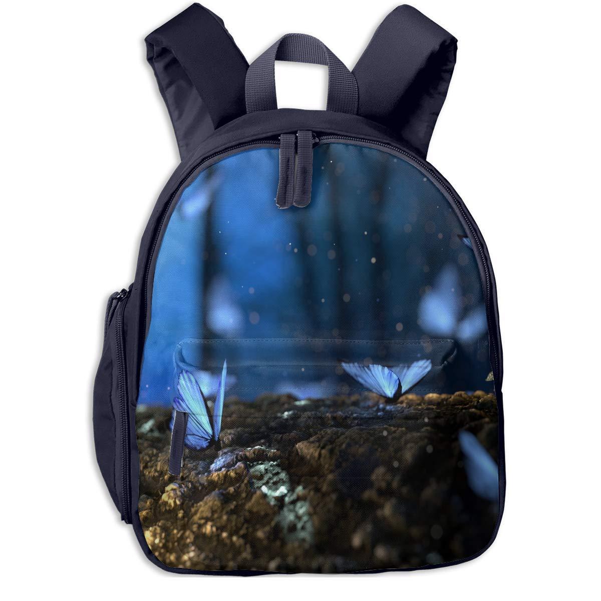 School Backpack for Girls Boys, Boys, Boys, Kids Cute Blau Beautful Butterfly Cartoon Backpacks Book Bag B07M9QZX4Z Daypacks Flut Schuhe Liste d449a0