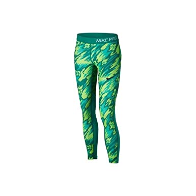 8e52172ad8cd Image Unavailable. Image not available for. Color  Nike Girl s Pro Hypercool  Allover Print 3 4 Training Tights (Large ...