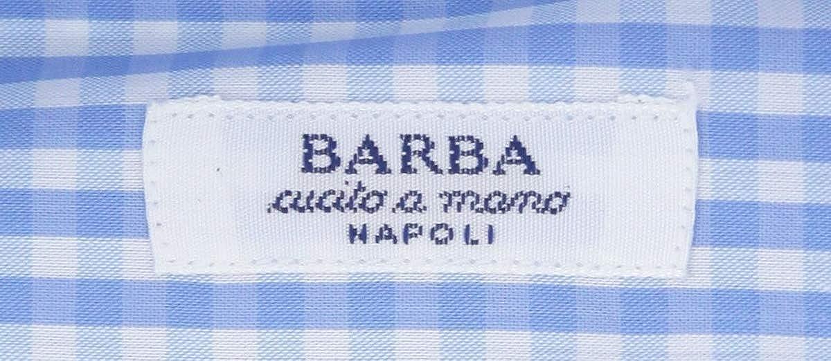 Barba Napoli Stripes Button Down Spread Collar Cotton Blend Slim Fit Dress Shirt