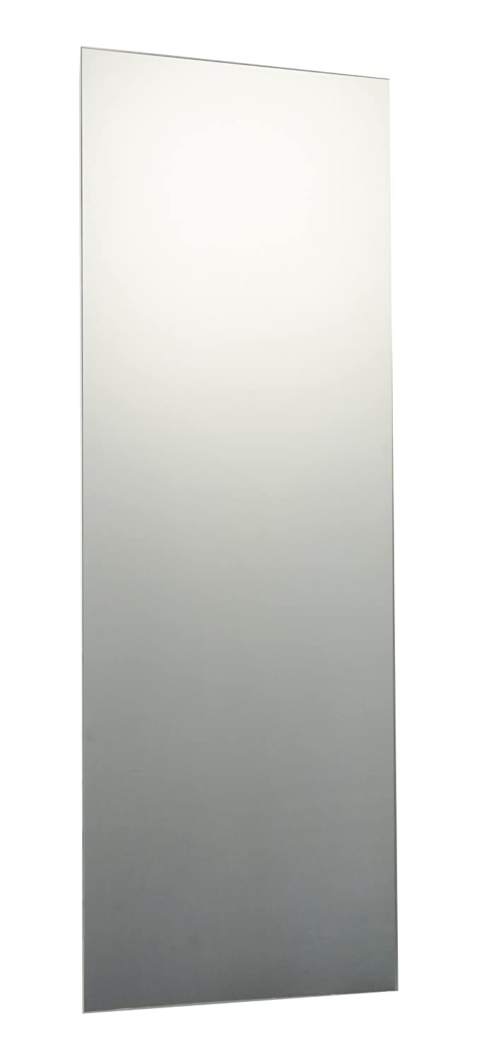 120 x 60cm Plain Frameless Bathroom Rectangle Mirror Glass with Smooth Edges, Wall Hanging Fixings Included