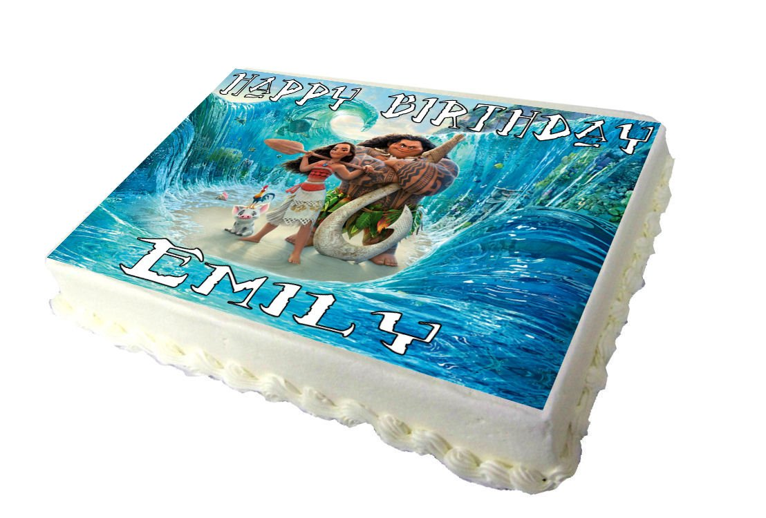 Asda Personalised Birthday Cakes In Store ~ Moana a birthday cake topper amazon grocery