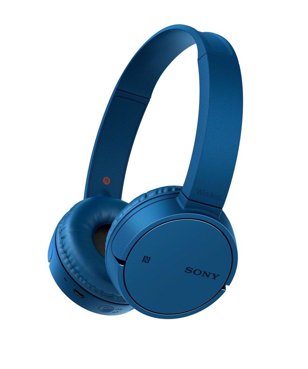 Sony MDRZX220BTL7 - Auriculares Plegables de Diadema Cerrados con Bluetooth (Manos Libres para Apple iPhone y Android, NFC, LDAC, autonomía de 8 h), Color Azul