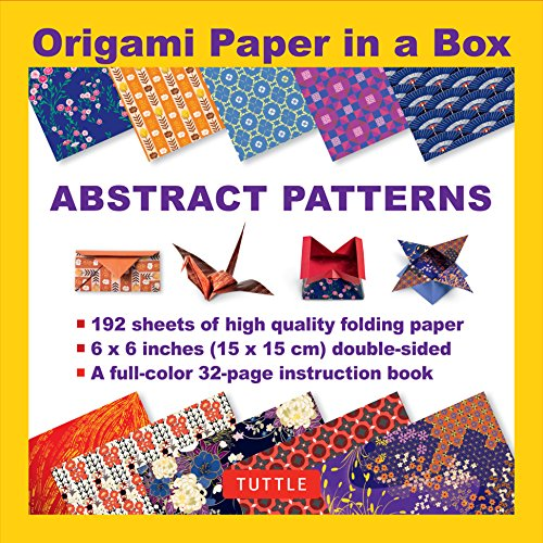 (Origami Paper in a Box - Abstract Patterns: 196 Sheets of Tuttle Origami Paper: 6x6 Inch High-Quality Origami Paper Printed with 12 Different Patterns: 32-page Instructional Book of 12 Projects)