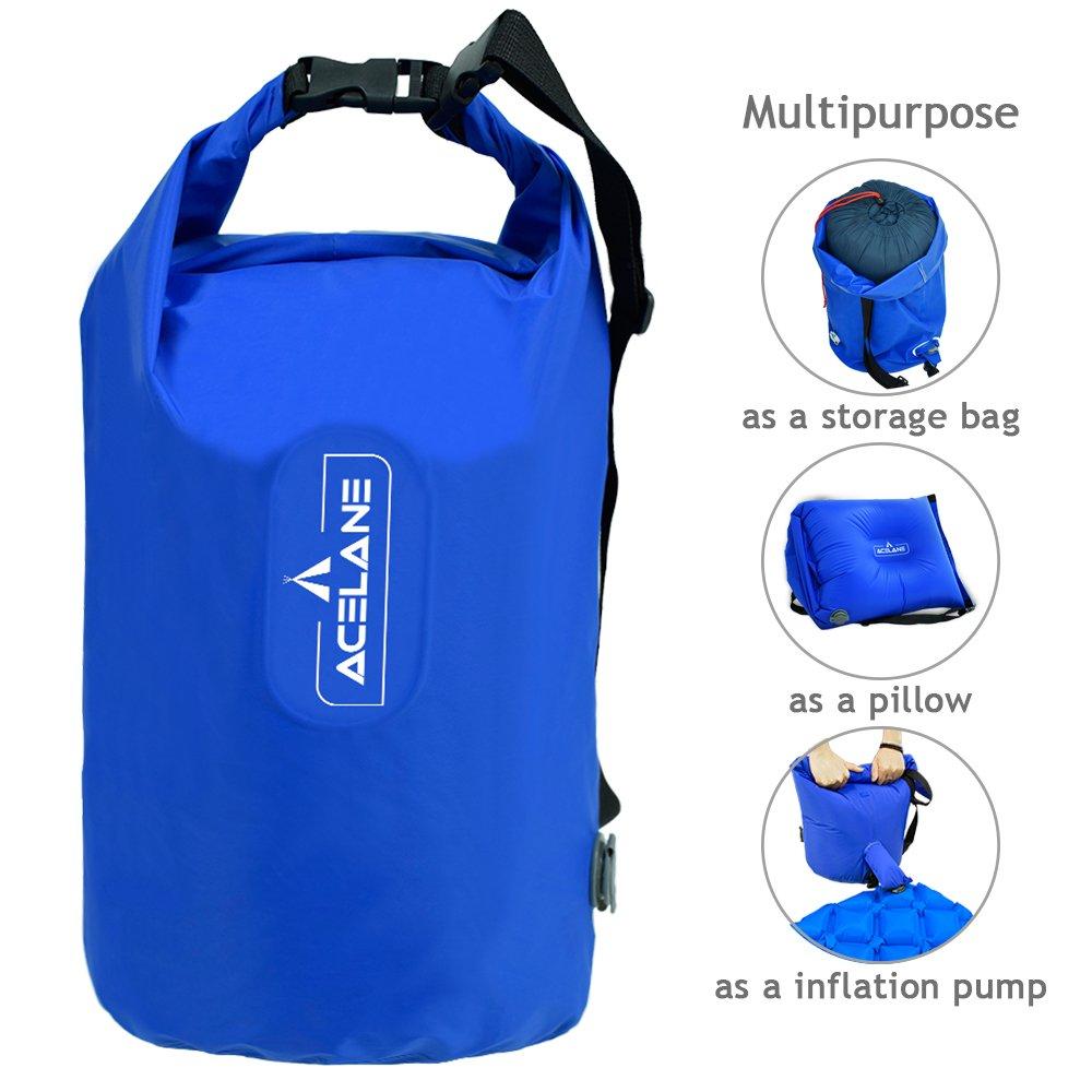 Acelane Inflation Sleeping Pad Dry Bag Waterproof Lightweight Sack for Camping Boating Hiking Floating Travel