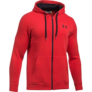1941c97ee9777 Under Armour Rival Fitted Men's Sport Jacket with Full-Length Zip,  Breathable Men's Hooded