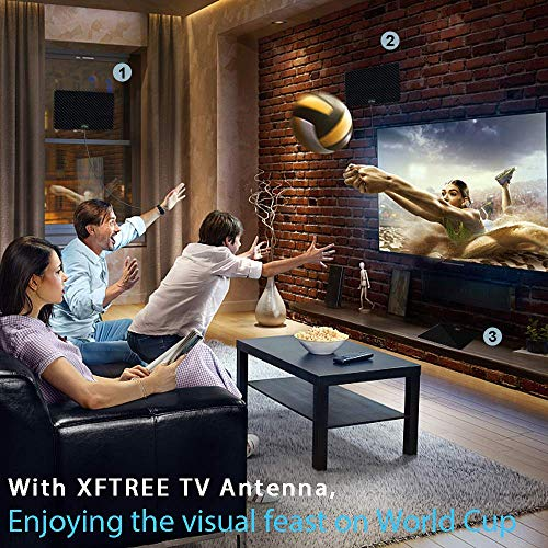 TV Antenna, 2021 New Indoor Amplified HD Digital TV Antenna 230 Miles Range with Amplifier Signal Booster 4K Free Local Channels Support All 4K1080P HDTV Teletision and All Older TV's -17ft Coax Cable
