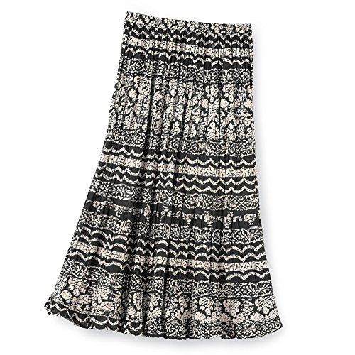 Womens Elastic Waist Mixed Print