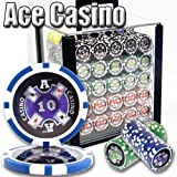 1000 Ace Casino Acrylic Poker Chip Set. 14 Gram Heavy Weighted Poker Chips.