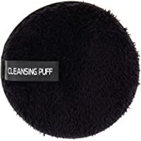 Flameer Face Facial Washing Makeup Remover Cleaning Sponge Puff Exfoliator Scrub Pad - Black