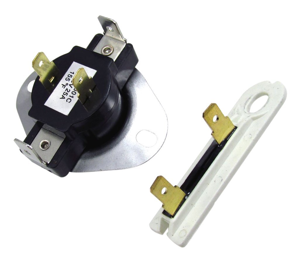 3387134 AND 3392519 DRYER CYCLING THERMOSTAT & THERMAL FUSE Compatible with Whirlpool & Kenmore Dryer
