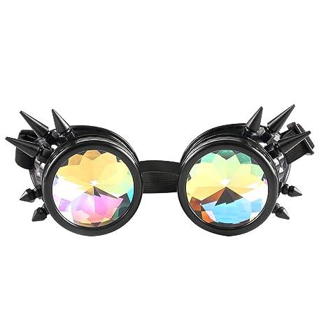 Nuevo estilo remache Punk Gafas Cosplay de moda casco de equitación decorativo al vapor gafas gafas