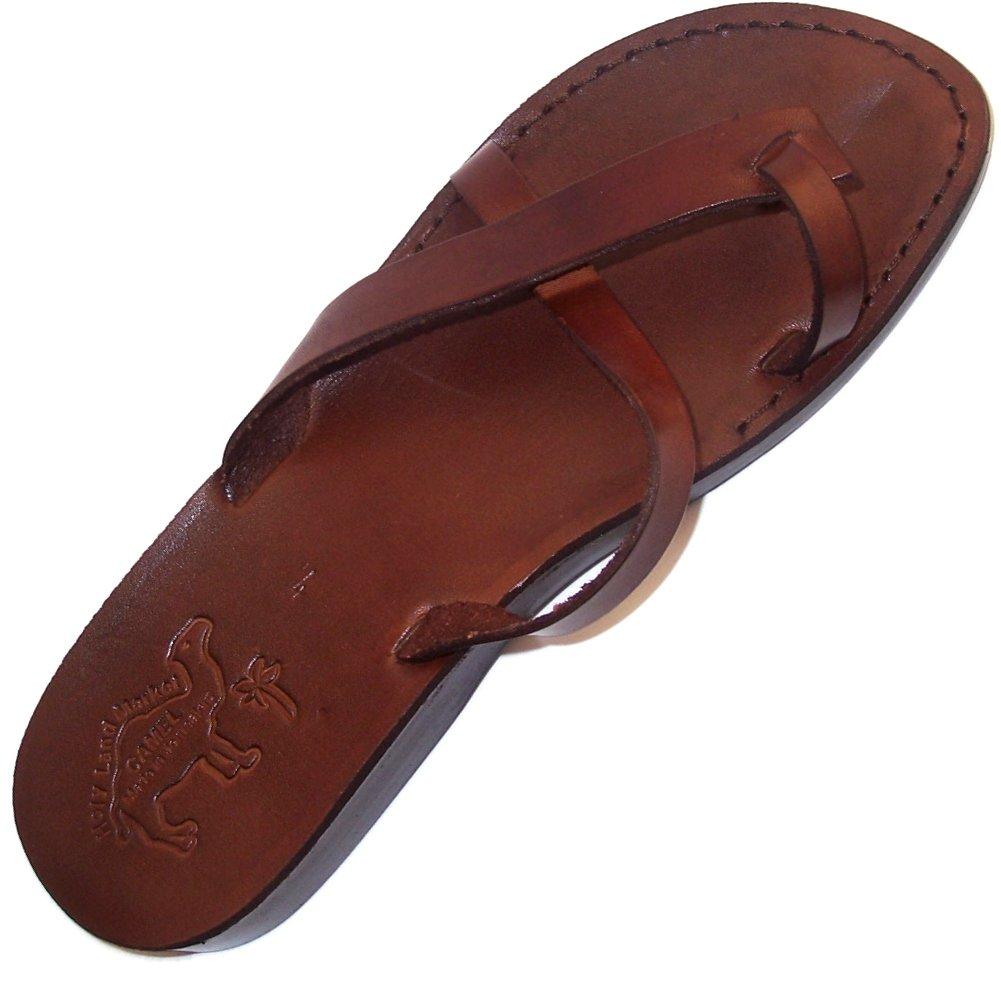 Unisex Genuine Leather Biblical Flip flops (Jesus - Yashua) Paul Style I - 35