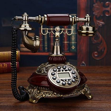 HZPXSB Teléfono Antiguo Teléfono Fijo Teléfono Antiguo hogar ...