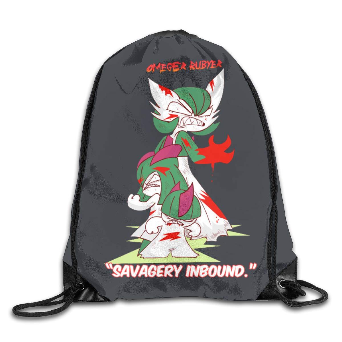 WABAODAN Gloverfield Savage 3D Printing Unisex Classic Drawstring String Bag One Size