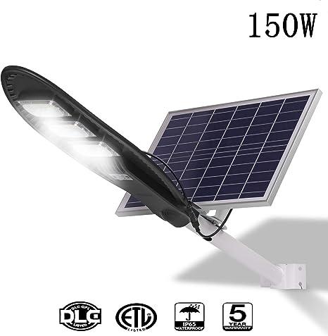 Amazon.com: Lámpara solar de 150 W para exteriores, con ...