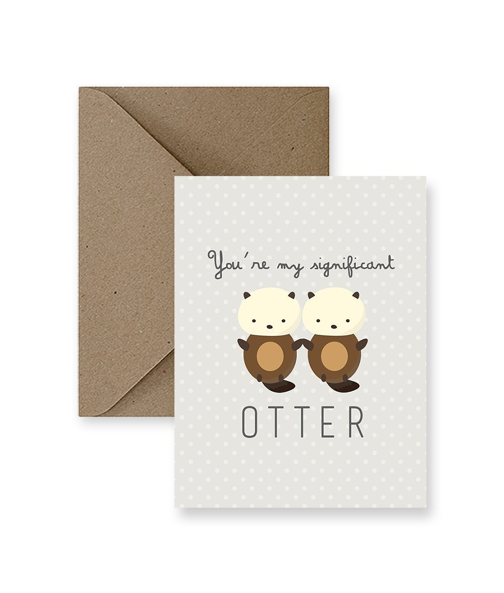 Amazon Youre My Significant Otter Greeting Card Handmade