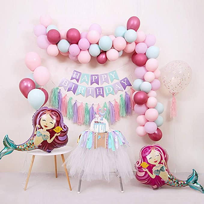 Photo prop Same Day Shipping Licensed Product Giant 38 Merry Mermaid Holographic Foil Balloon  Mermaid Birthday Party