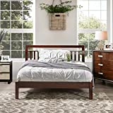 Furniture of America Perillean Wood Slatted Traditional Platform Bed Walnut Queen