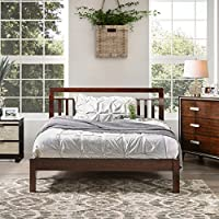 Furniture of America Perillean Slatted Transitional Platform Bed Walnut Full
