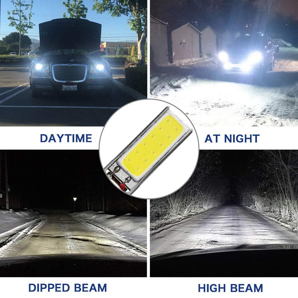 Maso 12/V H1/LED Ampoules de phare 7.5/W 6000/K Super Lumineux Feux de Brouillard Feux de Jour phares Xenon Blanc pour auto lot de 2