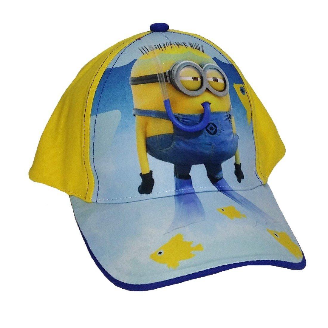 Cappello bambini in cotone con visiera Minions regolabile cod  976 Giallo e  Blu  Amazon.it  Salute e cura della persona f977a57ef5b6