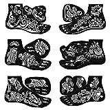 BMC 8pc Mehndi Henna Tattoo For Foot