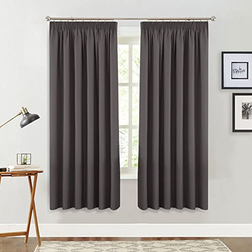 Delicieux PONY DANCE Blackout Window Curtains   Pencil Pleat Thermal Insulated Room  Dark Gray Curtain Panels Energy