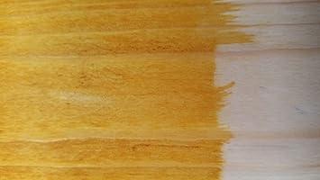 Tinte para madera Bolgers a base de agua, respetuoso con el medio ambiente, sin olor y sin COV, color amarillo, 500 ml