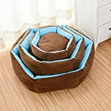 Dog Beds house Pet Nest Cat Pad Soft Cotton with removable cover Small Medium Large (S 30X30CM)
