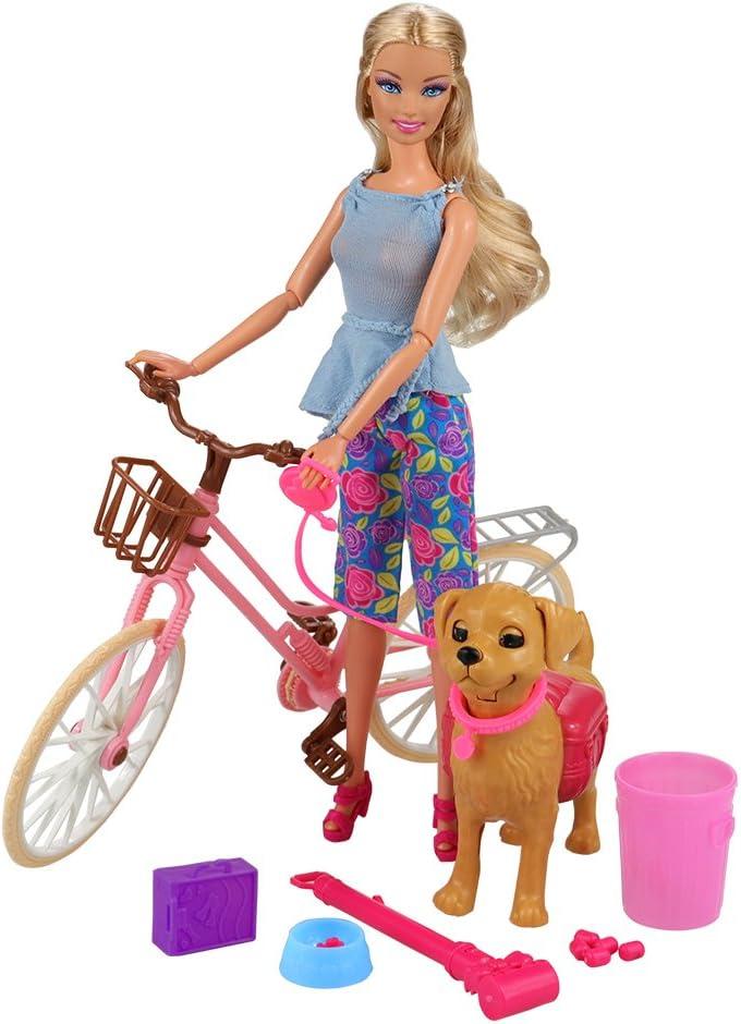 Bambola Barbie FJB36 da salone Accessori Set multi-colore