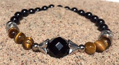 Grey Agate \u2022 Tiger Eye \u2022 Onyx \u2022 Healing Bracelet