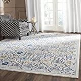 Safavieh Evoke Collection EVK210C Contemporary Ivory and Blue Area Rug (4′ x 6′) For Sale