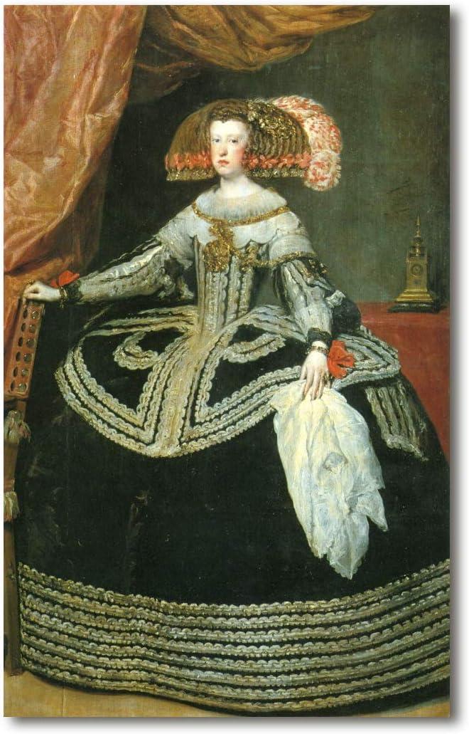 Cuadro Decoratt: La reina Mariana de Austria - Diego Velazquez 48x76cm. Cuadro de impresión directa.