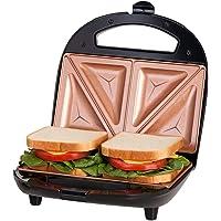 Gotham Steel Ti-Ceramic Black Non-Stick Sandwich Maker, Toaster and Electric Panini Grill with Ultra Nonstick Copper Surface