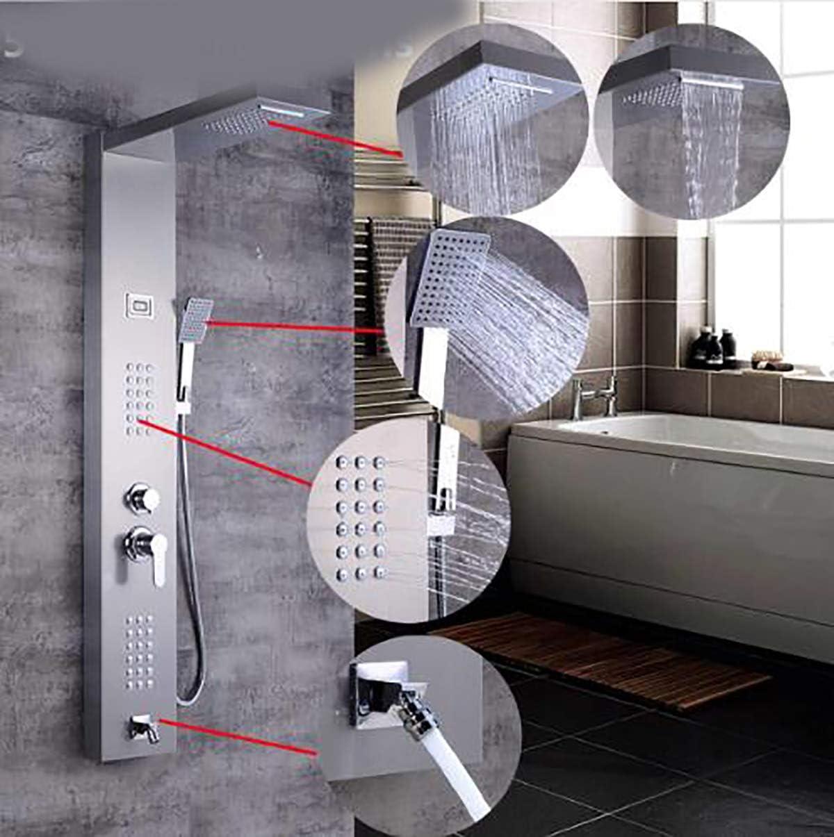 Shower Column Acabado de níquel Cepillado Masaje Jet Sin Tanque ...