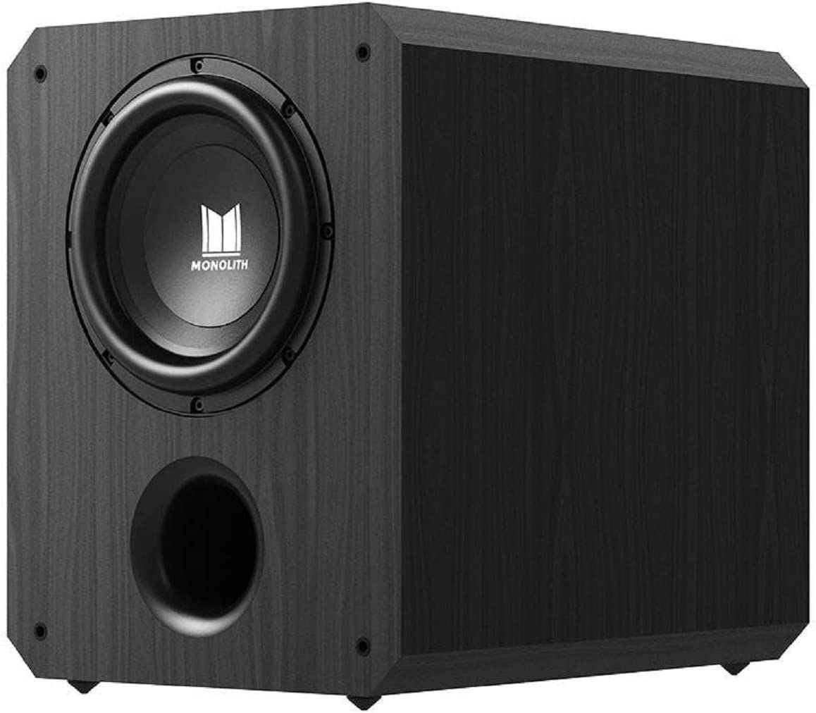 Monolith Powered Subwoofer - 10 Inch with 500 Watt Amplifier, THX Certified, Ideal for Professional Studio and Home Theater