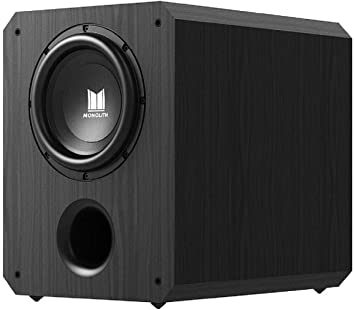 amazon com monolith powered subwoofer 10 inch with 500 watt amplifier thx certified ideal for professional studio and home theater electronics monolith powered subwoofer 10 inch with 500 watt amplifier thx certified ideal for professional studio and home theater
