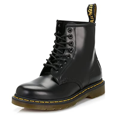 Dr. Martens Dr.Martens Smooth Botte 1460 Smooth Brillant 8 Trous - Noir - f125cfe38efb