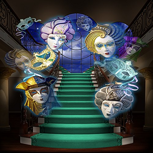 Photography Backdrop - Venetian Masquerade with Staircase - 10x10 Ft. Seamless (Masquerade Ball Backdrops)