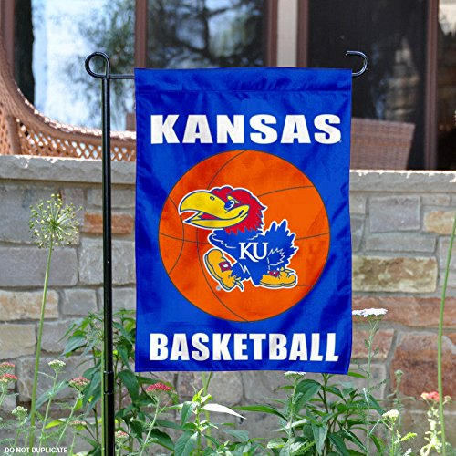 Ku Basketball Kansas - Kansas Jayhawks Basketball Garden Flag