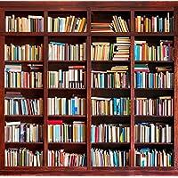 Yame 6x8ft Vinyl Digital Bookshelf Library Study Room Books Photography Studio Backdrop Background