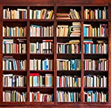 Yame 6x8ft Vinyl Digital Bookshelf Library Study Room Books Photography Studio Backdrop Background