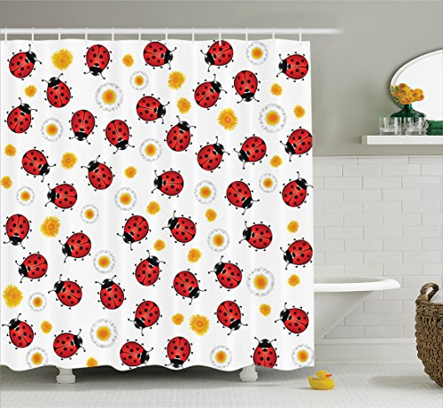 Ambesonne Ladybugs Decorations Collection, Ladybugs Ladyb...