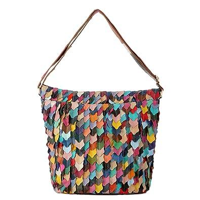 Mingxin European Style Genuine Sheepskin Spliced Women s Shoulder Bag  Camel  Handbags  Amazon.com e21e792f16a47
