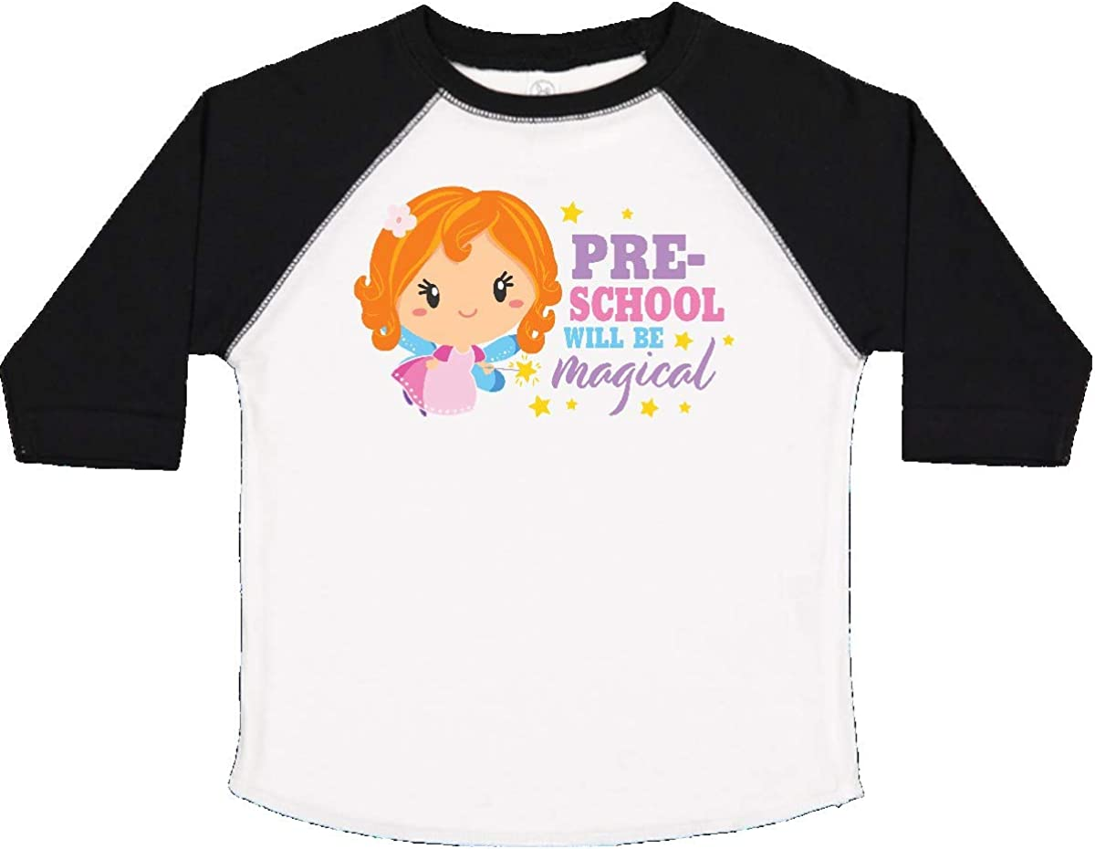 inktastic Preschool Will Be Magical with Red Haired Fairy Toddler T-Shirt