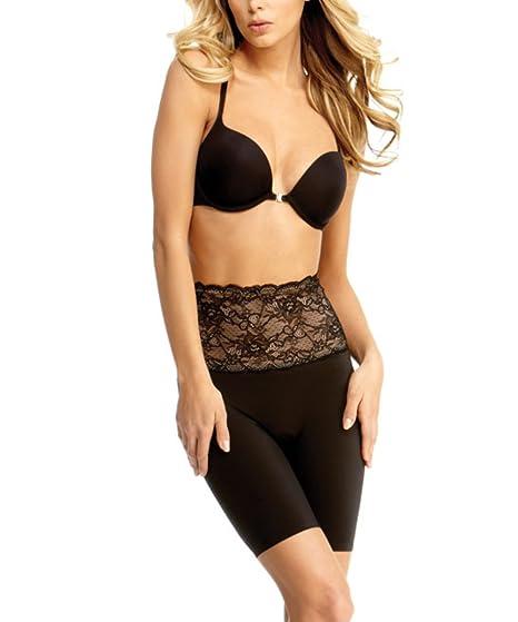 d0d447b328 SlimLuxe By MeMoi womens Shaper Lace Mid Thigh   SLU-108 at Amazon ...