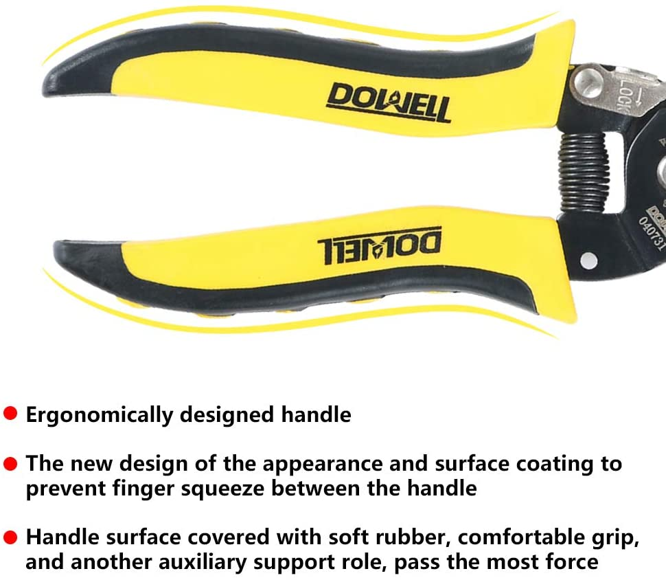 HYT040731 Wire Crimper And Multi-Function Hand Tool,Professional Handle Design And Refined Craftsmanship Wire Crimper And Multi-Function Hand Tool/, Professional Handle Design And Refined Craftsmanship DOWELL 22-30 AWG Wire Stripper