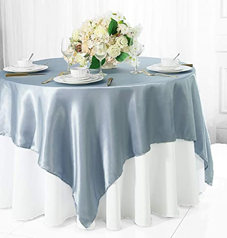 """90x132/"""" Serenity Blue SEQUIN RECTANGLE TABLECLOTH Wedding Party Catering Linens"""